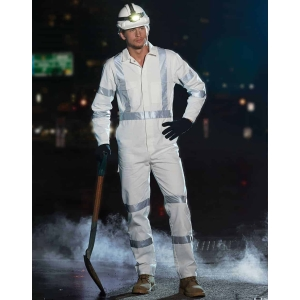 WA09HV Mens biomotion nightwear coverall with x back tape configuration