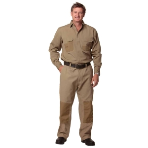 • 345gsm - 100% Fine Cotton - Duck Weave Canvas with CORDURA® • Cargo pockets and concealed gadget pocket on waistband • All stress points bar-tacked • Reinforced with durable CORDURA® patches • Knee pads provision (knee pads - WNP01, sold separately) • Heavy-duty nylon zip fly • Excellent UV protection with UPF rating 50+