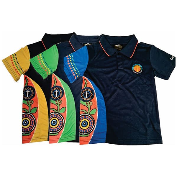 Polo with sublimation panel